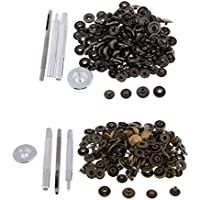 B Baosity 80 Set Druckknöpfe Druckknopf mit Werkzeug Set für Kleidung, DIY Kunsthandwerk, Leder Handwerk