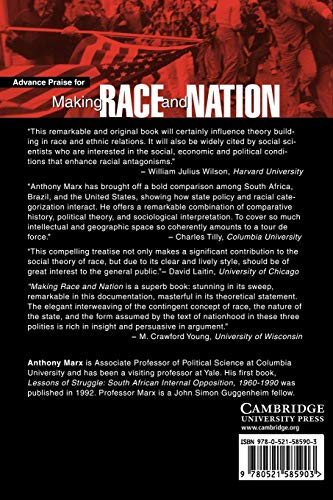 Making Race and Nation Paperback: A Comparison of South Africa, the United States, and Brazil (Cambridge Studies in Comparative Politics)