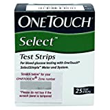 #9: OneTouch Select Test Strips (25 Count, Multicolor)