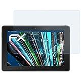 atFolix Panzerfolie für Dell Venue 10 Pro 5000 Folie - 2 x FX-Shock-Clear stoßabsorbierende ultraklare Displayschutzfolie