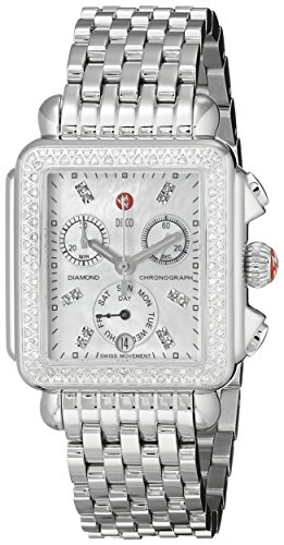 MICHELE WOMEN'S STEEL BRACELET & CASE SWISS QUARTZ MOP DIAL WATCH MWW06P000099