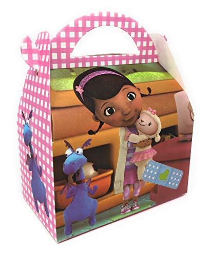 AEX 6 x Alles Gute zum Geburtstag Kinder Partytasche Mittagessen Geschenkboxen (Doc McStuffins)