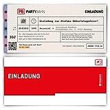 Einladungskarten zum Geburtstag (60 Stück) Bahnkarte Bahn Karte Zug Ticket Zugticket Zugkarte