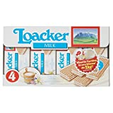 Loaker Wafers con Crema al Latte - 4 x 45 gr - Totale: 180 gr