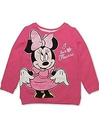 DISNEY Niñas Minnie Mouse Sudadera, rosa