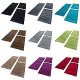 Bettumrandung/Läuferteppiche für Wohnzimmer 3 Tlg. Läuferset_DREAM_4000, Farbe:Mocca, BettSet:2 x 60x110 + 1 x 80x150