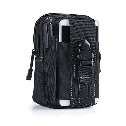 Tactical Pouch, Vdealen Edc Utility gadget borsa cintura in vita con cellulare telefono supporto per iPhone 876S Plus 5S Samsung Galaxy S7S6LG HTC e altri, adatto per jogging, trekking, campeggio, Black