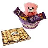 Teddy With 24 Pcs Ferrero Rocher