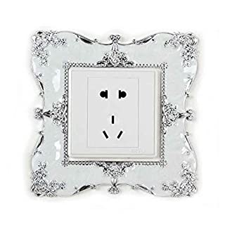 QIANDUOO 2X Shining Acrylic Light Switch Surround Socket Finger Plate Panel Cover Vintage