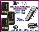 HAUSS (KLEIN) POCKET 3750-1 / 3750-2 / 3750-4 kompatibel handsender, klone fernbedienung, 4-kanal 433,92Mhz fixed code. Top Qualität Kopiergerät!!!