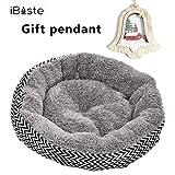 Pet Nest Hundebett / Katzenbett, groß, weich, kratzfest, warm, gemütlich, mit Kissenkorb, waschbar, runde Form, aus Fleece, Nisthöhle, Haustiere, Haustiere, Haustiere, Sofa, Matte, Grau