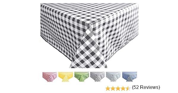 Home Direct Nappe Toile cir/ée PVC Rectangulaire 140 x 240 cm Vichy Gris Fonc/é