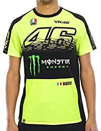 Tee shirt Valentino Rossi Monster Energy Collection Sponsor Florescent Jaune
