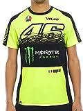 Valentino Rossi Monster Energy T-Shirt Vr46 Sponsor Fluorescent Gelb (Large, Gelb)