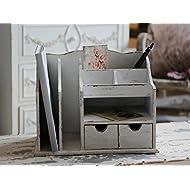 Aufbewahrung Organizer Büro Chic Antique Schreibtisch Ablage Brief Holz Post