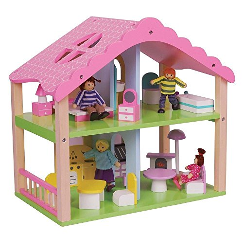 lelin-wooden-pink-doll-house-childrens-girls-summer-home-cottage