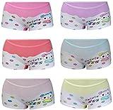 PiriModa 6 Pack Kinder Mädchen Baumwolle Pantys Boxer Unterhose Panty Unterwäsche Boxershorts Slips Schlüpfer 2-14 Jahre Größe 104-164 (116-122 (5-7Jahre), Modell 2)