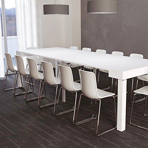 Consolle Allungabile 4 Metri.Tavolo Consolle Allungabile Parigi Fino A 3 Metri Design Moderno Ed Elegante Tavolo Consolle Per Casa E Ufficio 75 X 50 X 90 Cm Colore Bianco 90