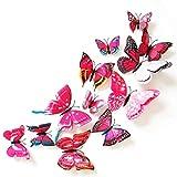 Moginp Vorhänge,Vorhang Aufkleber Wandsticker 12Pcs Pack Home Gardinen Decor Schmetterling Form Pin (D)
