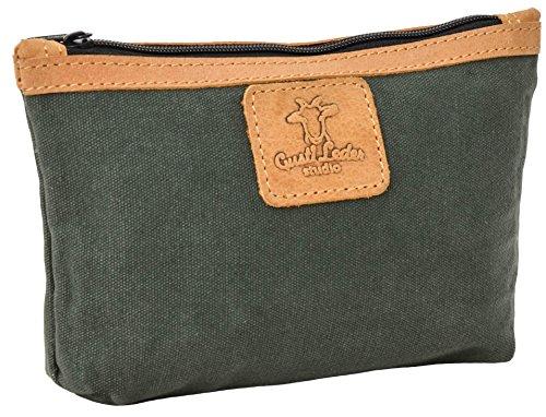 """Gusti Cuir studio """"Sydney"""" trousse à maquillage en cuir trousse de toilette en cuir véritable sac à main cuir besace en cuir pratique petit vintage sac voyage bagage à main en cuir vert 2S31-26-57"""