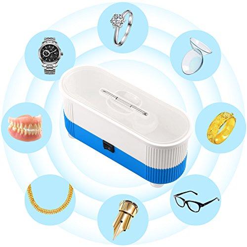 Ultraschall-Reiniger, myriann Ultraschall Reinigung Maschine für Reinigung Schmuck Brille Uhr Metall Münzen Zahnersatz