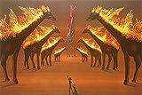 Art-Galerie Leinwandbild - Salvador Dali - Brennende Giraffen - 69x46cm - Kunstdruck auf Leinwand - Premiumqualität - Surrealismus - Made IN Germany Shop