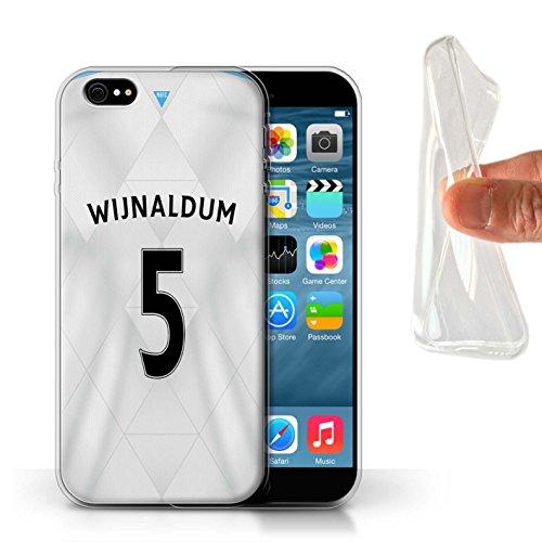Offiziell Newcastle United FC Hülle / Gel TPU Case für Apple iPhone 6S / Pack 29pcs Muster / NUFC Trikot Away 15/16 Kollektion Wijnaldum