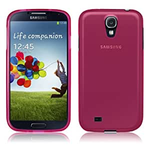 PrimaCase - Rose (Pink) - Coque TPU Silicone Semi-Transparent pour Samsung Galaxy S4 i9500 / i9505