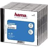 Hama Lot de 10 boites vides transparentes avec fond noir pour CD simples