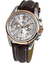 Jacques Lemans Herren-Armbanduhr Liverpool Analog Quarz Leder 1-1117.1NN
