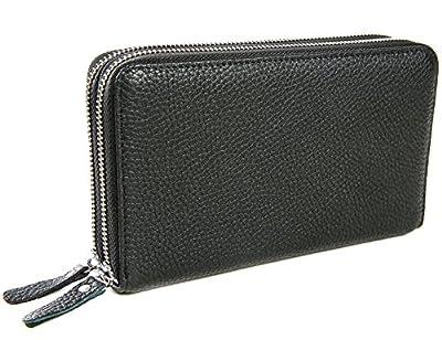 iSuperb Homme Sac d'embrayage Portefeuille Sac à Main en Cuir Porte Monnaie Pochette Case de Téléphone d'affaires Voyager Travailler 20x11.5x4.5 cm