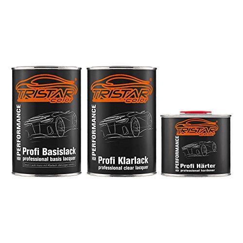 TRISTARcolor Autolack Set Dose spritzfertig für Datsun/Infiniti/Nissan KAC Titaniun Gray Metallic/Bronze Grey Metallic Basislack + 2K Klarlack 2,5L