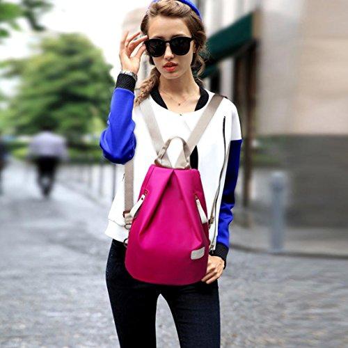 squarex , Damen Rucksackhandtasche Hot Pink