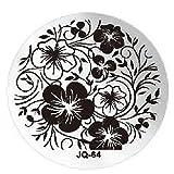 JUSTFOX - Nail Art Rose Blume Flower Plates Template Fashion Stempel