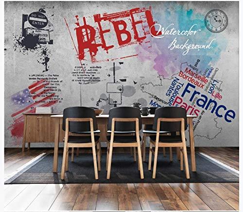 Apoart 3D Papel Pintado Pared Nostálgica Retra Europea