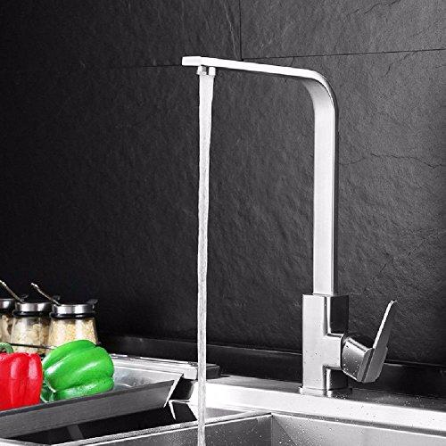Gyps Faucet Waschtisch-Einhebelmischer Waschtischarmatur BadarmaturEdelstahl Küche Wasserhahn Warmes und Kaltes Wasser, Geschirr rotierende Waschbecken Schüssel mit Wasser im Pool C Reinigen