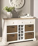 Florence Sideboard with wine rack. WHITE kitchen sideboard with baskets and optional shelves. Very solid. FULLY ASSEMBLED