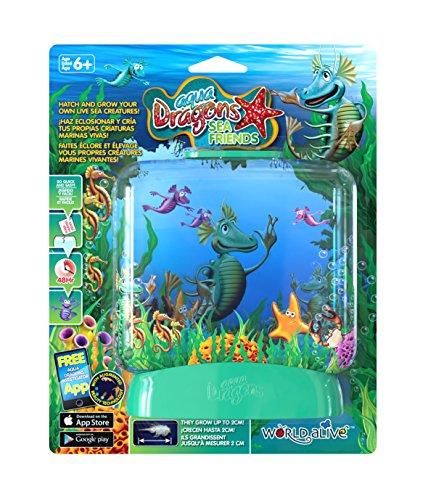 World Alive- Aqua Dragons Creature Acquatiche con Serbatoio Rettangolare, Multicolore, WA4016