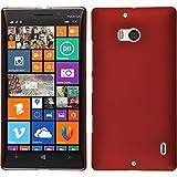 PhoneNatic Case für Nokia Lumia 930 Hülle rot gummiert Hard-case + 2 Schutzfolien