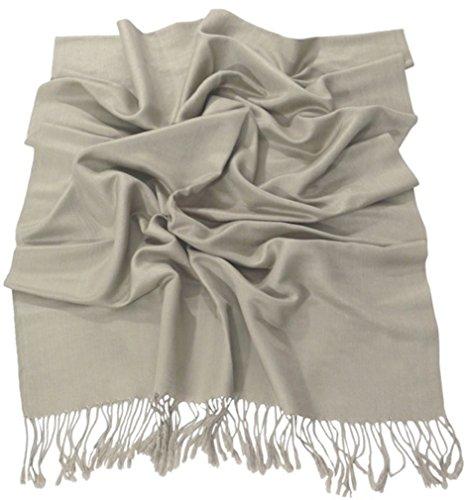 CJ Apparel Visón Diseño Sólido Color Chal Pashmina Abrigo de la Bufanda...