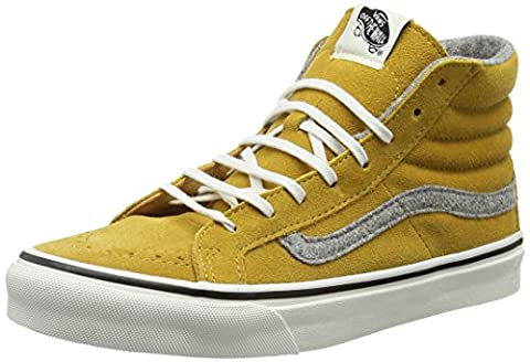 Vans Unisex Adults' SK8 Slim Hi-Top Sneakers, Yellow (Vintage Suede Amber Gold), 7.5 UK