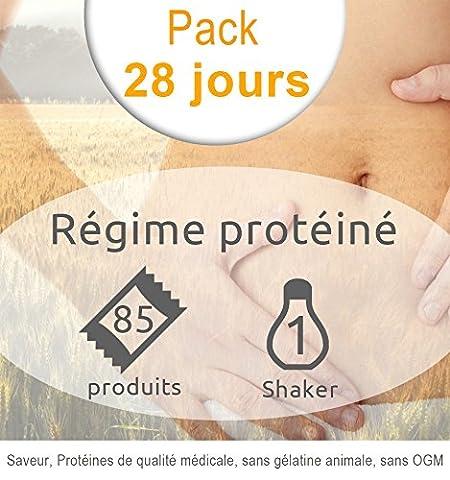 Pack régime hyperprotéiné 28 jours-58 sachets-24 barres/snacks