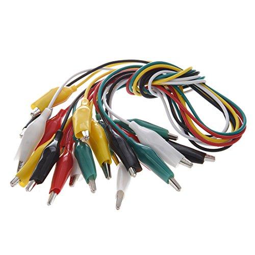 SODIAL (R) 10 Stueck 5-Color Double Ended Krokodilklemmen Test Lead Jumper Wire 48cm 1,6 Ft