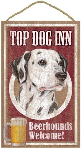 SJT. (sjt27933) Dalmatian, on the Top Dog Inn 10 'x 16' Wooden Plaque, signal
