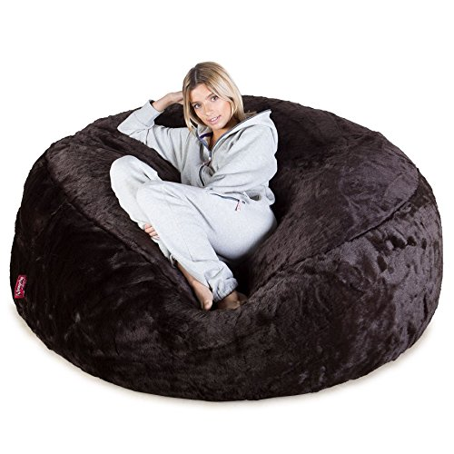 Lounge Pug, 'Mega-Mammoth' Sofa Sitzsack XXL, Schlafsofa, Kunstfell Braun