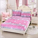 BBQBQ Extra elastischer und widerstandsfähiger Matratzenbezug/Matratzenüberzug,Bettgarnitur Glück Zärtlichkeit 150 * 200 * 13cm + 2 Kissenbezüge