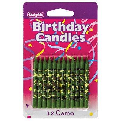 Unbekannt Camo Print Geburtstag Kuchen Kerzen-12ct