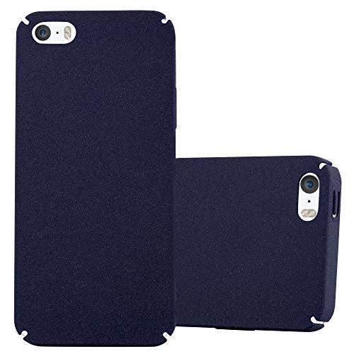 Preisvergleich Produktbild Cadorabo Hülle für Apple iPhone 5 / iPhone 5S / iPhone SE - Hülle in Frosty BLAU – Hardcase Handyhülle im matten Frosty Design - Schutzhülle Bumper Back Case Cover