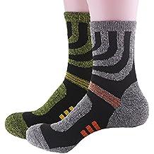 tuopuda 2 pares calcetines de invierno deporte para hombre, suaves, térmicos, largos,