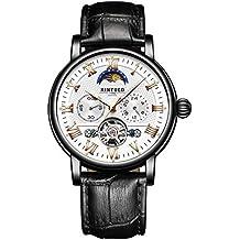 YANJJ Reloj CláSico Para Hombres De Negocios Reloj MecáNico AutomáTico Tourbillon Con Esfera PequeñA MultifuncióN Indicador